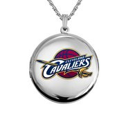 14k White Gold Round Cleveland Cavaliers Picture Locket