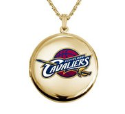 14k Yellow Gold Round Cleveland Cavaliers Picture Locket