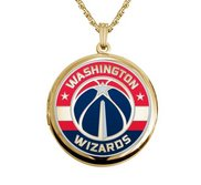 14k Yellow Gold Round Washington Wizards Picture Locket