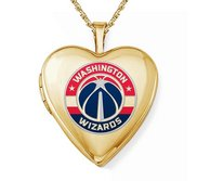 14k Yellow Gold Washington Wizards Heart Locket