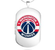 Sterling Silver Washington Wizards Dog Tag Locket