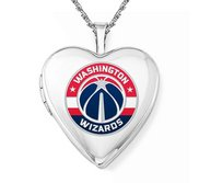 Sterling Silver Washington Wizards Heart Locket