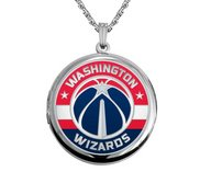 14k White Gold Round Washington Wizards Picture Locket