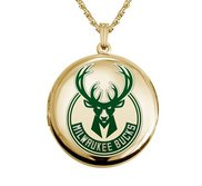14k Yellow Gold Round Milwaukee Bucks Picture Locket