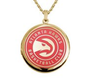 14k Yellow Gold Round Atlanta Hawks Picture Locket