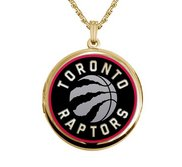 Gold Filled Round Toronto Raptors Picture Locket