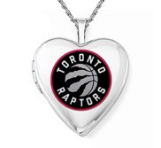 14k White Gold Toronto Raptors Heart Locket