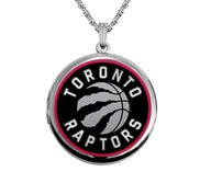 14k White Gold Round TOronto Raptors Picture Locket