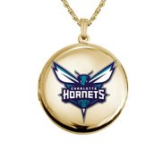Gold Filled Round Charlotte Hornets Picture Locket