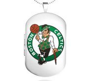 Sterling Silver Boston Celtics Dog Tag Locket