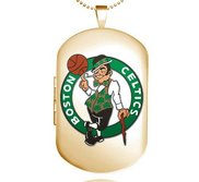 Gold Filled Boston Celtics Dog Tag Locket