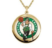 14k Yellow Gold Round Boston Celtics Picture Locket