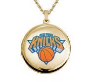 14k Yellow Gold Round New York Knicks Picture Locket