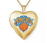 14k Yellow Gold New York Knicks Heart Locket
