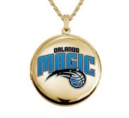 14k Yellow Gold Round Orlando Magic Picture Locket