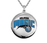 14k White Gold Round Orlando Magic Picture Locket