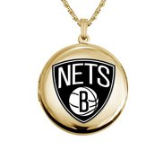 14k Yellow Gold Round Brooklyn Nets Picture Locket