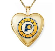 Yellow Gold Filled Indiana Pacers Heart Locket