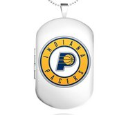 Sterling Silver Indiana Pacers Dog Tag Locket