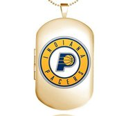 Gold Filled Indiana Pacers Dog Tag Locket