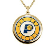 14k Yellow Gold Round Indiana Pacers Picture Locket