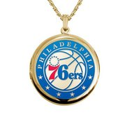 14k Yellow Gold Round Philadelphia 76ers Picture Locket