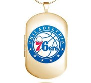 Gold Filled Philadelphia 76ers Dog Tag Locket