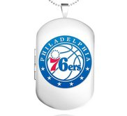 Sterling Silver Philadelphia 76ers Dog Tag Locket