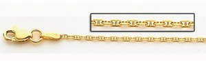 14K Yellow Gold  6mm Franco Figaro Chain