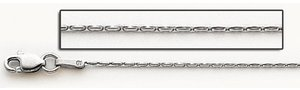 14K White Gold Diamond 4mm Cut Coreanna Chain