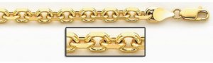 14K Yellow Gold 5 3 mm Cable Link Chain