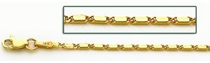14K Yellow Gold 6mm Lumachina Chain