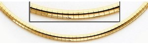 14K Yellow Gold 3mm Omega Chain