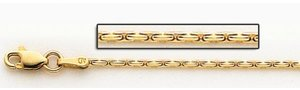 14K Yellow 6mm Gold Coreanna Link Chain