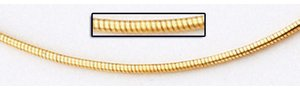 14K Yellow Gold 1 5 Round Omega Chain