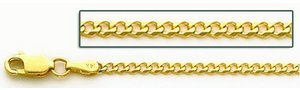 14K Yellow Gold 2 2MM Cuban Link Chain