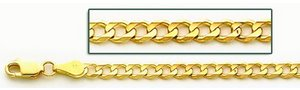 14K Yellow Gold 3 9mm Cuban Link Chain