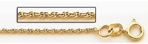 14K Yellow Gold 1 5mm Cable Link Chain