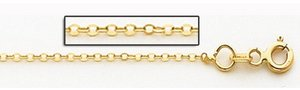 14K Yellow Gold 0 8mm Cable Link Chain