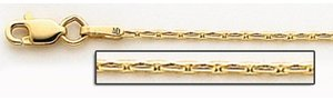 14K Yellow Gold 5mm Coreanna Link Chain