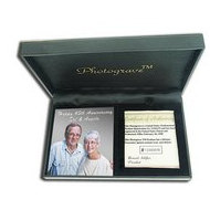 Solid 14K White GoldPortrait Plaque