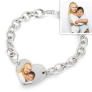 Sterling Silver Photo Engraved Bracelet - 21st Birthday Special Presents