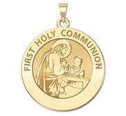 First Holy Communion Religious Medal  for a Boy   EXCLUSIVE