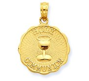 14k Yellow Gold First Holy Communion Disc