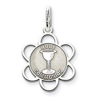 Sterling Silver Holy Communion Pendant Charm