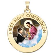 First Holy Communion Religious Medal  for a Boy   Color EXCLUSIVE