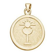 Nickel Sized Communion Religious Medal