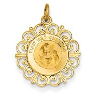 14K Gold First Holy Communion Religious Medal