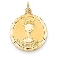 14K Gold Holy Communion Religious Medal