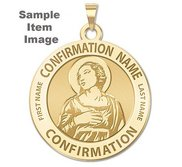 Custom Saint w  Personalized Saint Name Confirmation Religious Medal